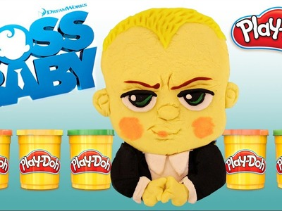 DIY The Boss Baby from Play Doh !!! How To Make Boss Baby Templeton | Playdoh Mold Clay, Kids Movie