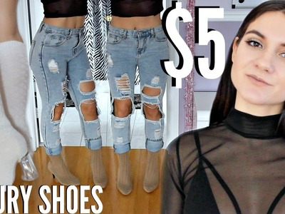 DIY YEEZY BOOTS + DIY LUXURY SHOES ! How To Look EXPENSIVE with 5 DOLLARS