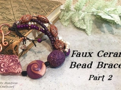 Faux Ceramic Bead Bracelet Part 2-Polymer Clay Jewelry Tutorial