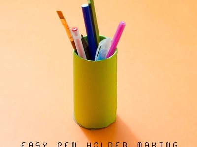 How to make a easy pen & pencil holder | Easy origami pen holders for beginners.