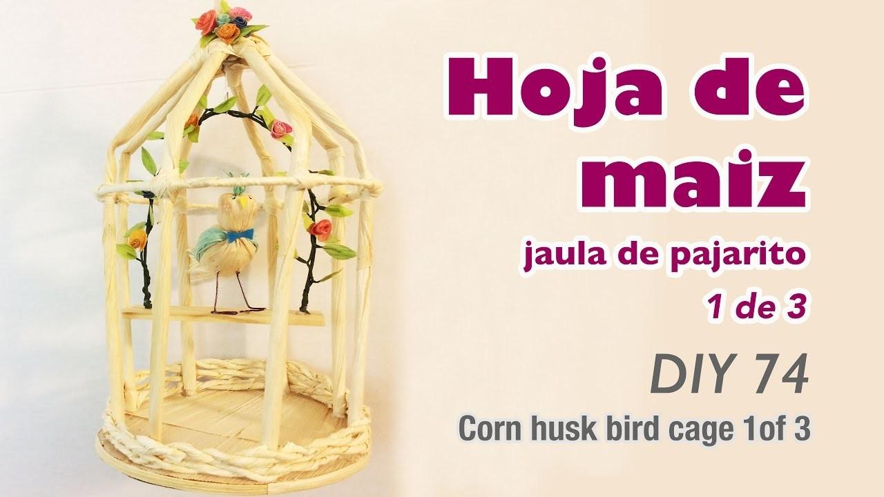How to make corn husk crafts 74.Como hacer manualidades con hoja de tamal