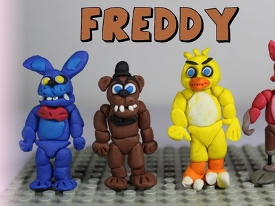 How to make Freddy Fazbear Polymer Clay Tutorial - Polymer Clay FNAF Playdoh Freddy Animatronics