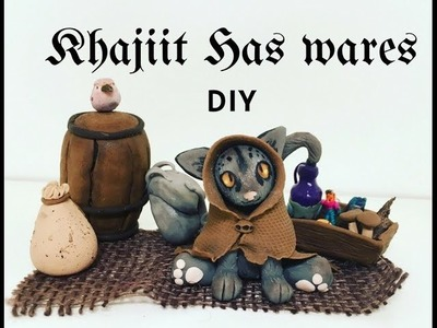 Khajiit Has Wares DIY Polymer Clay (Skyrim Art)