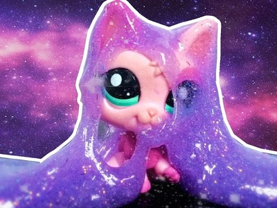 LPS Make Slime! DIY Galaxy Slime with Glue Borax