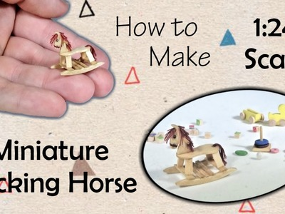 Miniature Rocking Horse Toy Tutorial | Dollhouse | How to Make 1:24 Scale DIY