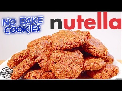 NO BAKE NUTELLA COOKIES RECIPE - Easy how to make DIY