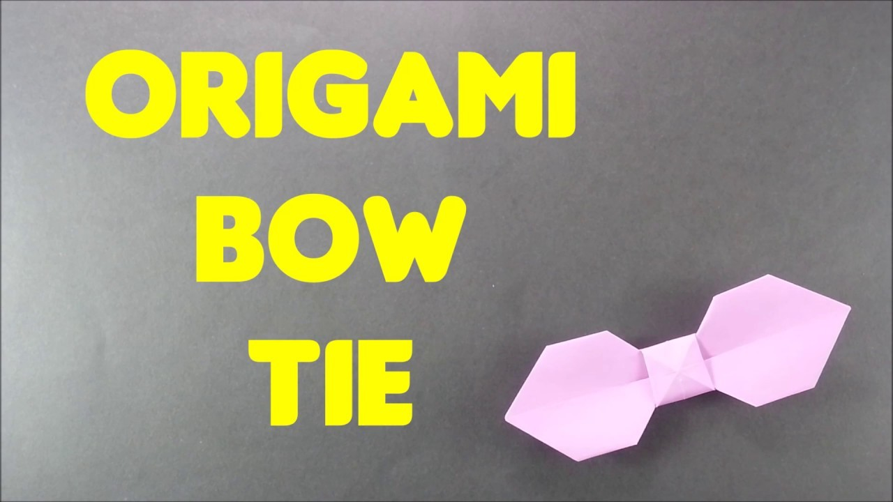 Origami bow tie easy step by step origami ribbon tutorial for origami bow tie easy step by step origami ribbon tutorial for beginners fathers day necktie jeuxipadfo Image collections
