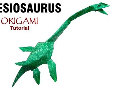 Origami Plesiosaurus tutorial (Satoshi Kamiya) 折り紙  プレシオサウルス  оригами учебник  плезиозавр