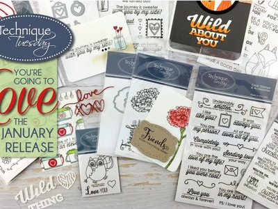 Paper Crafting Stamps & Dies to Love: January Release