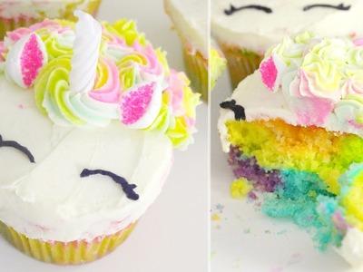 Rainbow Unicorn Cupcakes | RECIPE