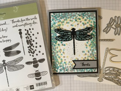 Stampin' Up! Dragonfly Dreams Artistic Handmade Thank You Card