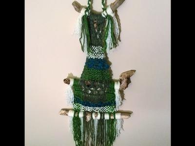 Woven hanging wall decor - Macrame & Weaving Tutorial
