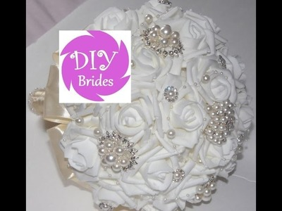#1 DIY Brides Make Your own  Brooch Bouquet Fabric Flowers Kit Under $50