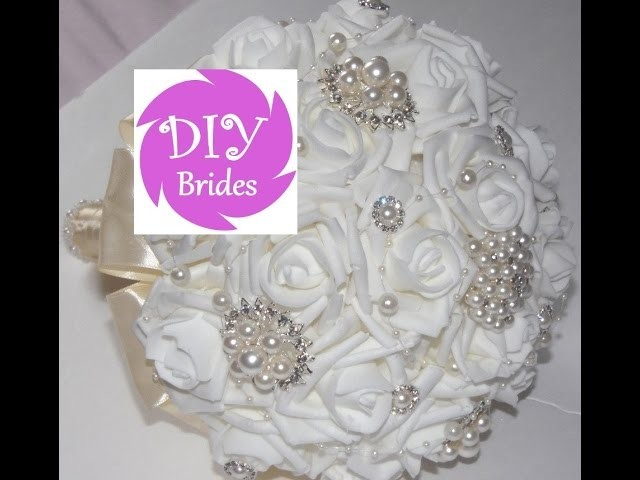 1 DIY Brides Make Your own Brooch Bouquet Fabric Flowers Kit Under $50