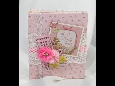 Baby Girl KaiserCraft Peek A Boo Scrapbook Mini Album