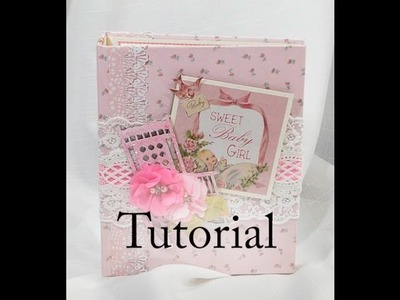 Baby Girl KaiserCraft Peek A Boo Scrapbook Mini Album Tutorial