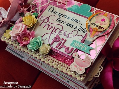 Baby girl scrapbook | Baby record book | DCWV Baby girl