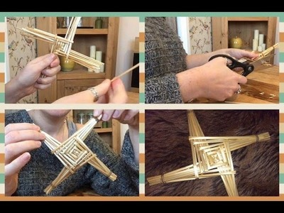 Crafting Brigid's Cross For Imbolc Season