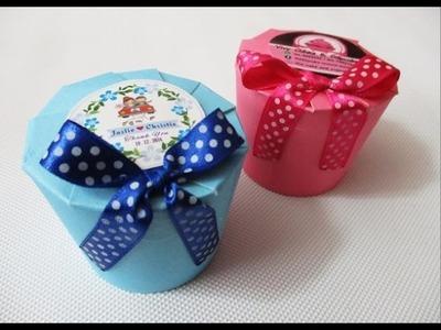 DIY : #168 Paper Cup - Door Gift Box ❤