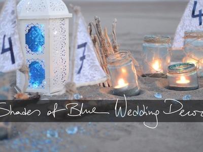 DIY Beach. Shades of blue theme Wedding Decor