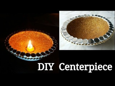 DIY Centerpiece - Glitter Candle Holder from Concrete - The Blue Sea Art