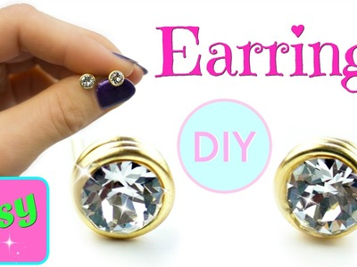 DIY Earrings | No tools! Simple DIY