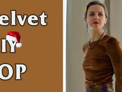 DIY -  Easy Velvet Top.