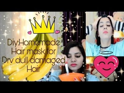 DIY HAIRMASK  How to get smooth silky hair at home.Diy hair mask for FIzzy.Rough.Damage hair.BANANA