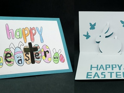 DIY Happy Easter Card - How to Make Pop Up Easter Card