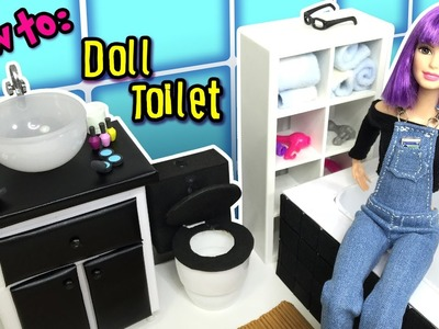 DIY - How to Make a Toilet for Barbie Doll - Dollhouse Miniatures Tutorial - Making Kids Toys