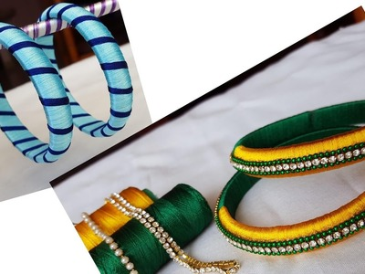 DIY | making of simple silk thread bangles | simple and easy
