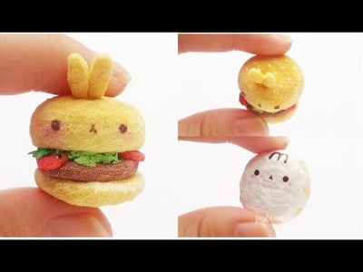 DIY molang burger and donut squishy ♥ | homemade squishy tutorial