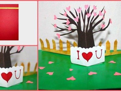 DIY Pop Up Love Tree Greeting Card + Giveaway | Valentine's Day Card | Saminspire