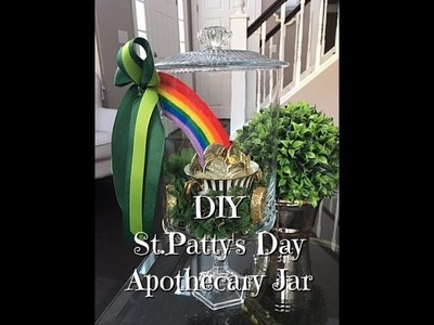 DIY Pot of Gold St. Patricks Day Apothecary Jar How-To Dollar Tree