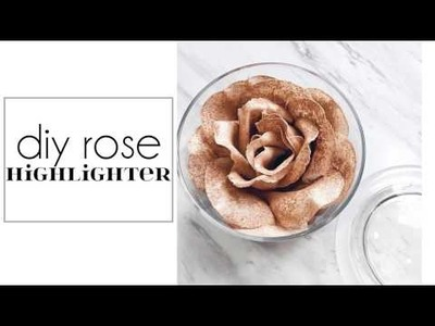 DIY Rose Highlighter | Lancome La Rose Powder Dupe | Jenni Mares