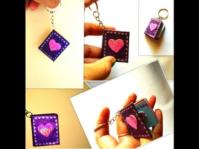 Diy unique valentine's day gift for your love. Miniature note book key chain.Personalize your gift