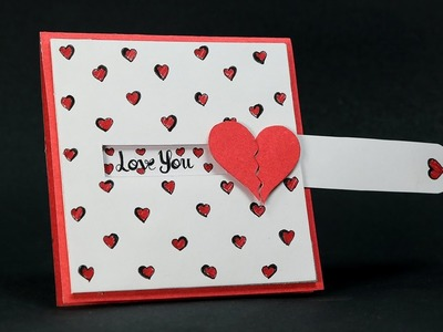 DIY Valentine Card - Love Slider Card Tutorial