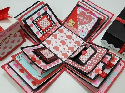 DIY Valentine's day gift.Explosion Box Tutorial. DIY Explosion Box.How to Make Explosion Box