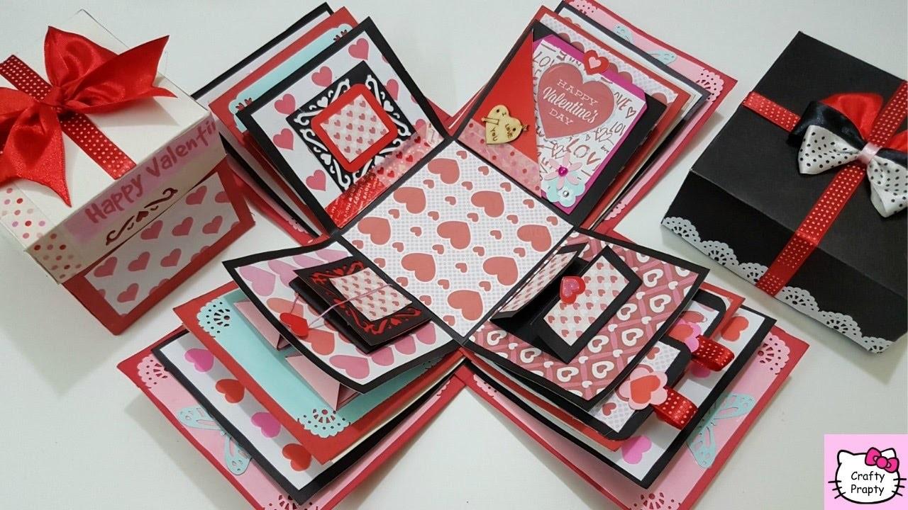 Diy Valentines Day Gift Explosion Box Tutorial Diy Explosion Box