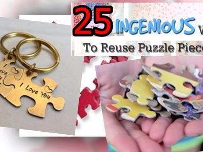 DIY Valentines Crafts.  Easy Puzzle Pieces Craft Ideas