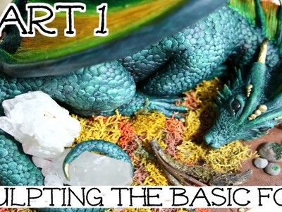 Dragon Sculpture Time Lapse | Part 1: Sculpting The Basic Form | How To Sculpt A Dragon