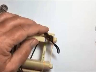 Endless loom leather wrap bracelet