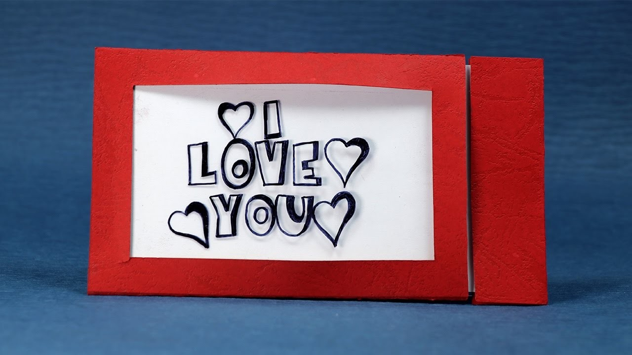 Happy Valentine's Day DIY Magic Greeting Card - Changes Color