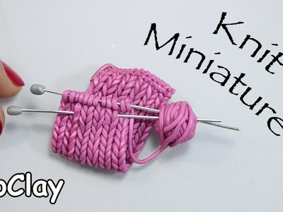 How to make a brooch with a faux knit miniature - DIY tutorial