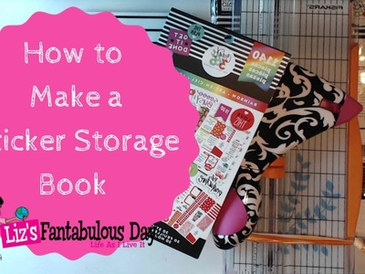 How to Make a DIY Happy Planner Sticker Book, DIY Sticker Book Tutorial #Planning