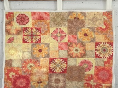 How to make a patchwork mandala wallhanging