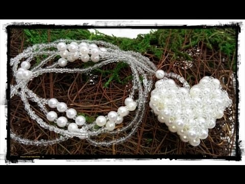 How to make a white heart pendant - DIY Valentine's day project