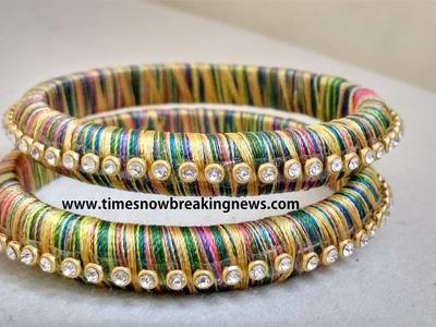 How to make silk thread bangles,indian silk thread bangles,diy silk thread bangles,simple life hacks