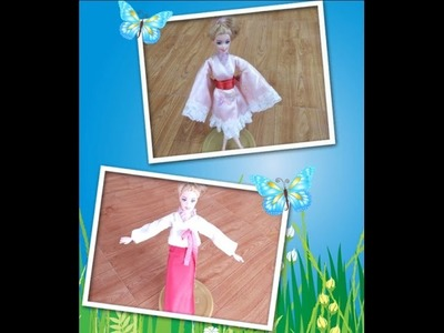 How to sew Hanbok and Kimono for dolls
