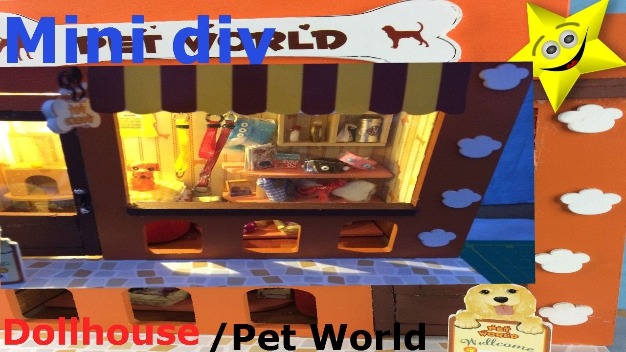 Mini DIY DollHouse Cute Miniature Kit. Beer Shop. How to